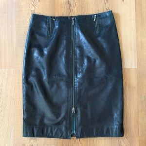 NWT Siena Studio leather pencil skirt, zippers, 10